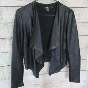 ABS Platinum Faux Leather Drape Jacket Small